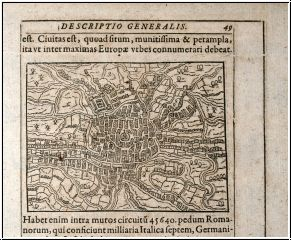 Antique Maps Saur 1608 Low Countries, Belgium, Ghent / Gent Title: [Gendauum]