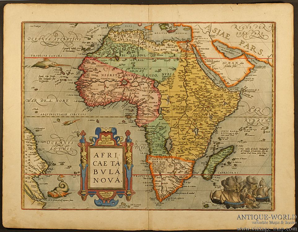 Vintage Africa Map Map Of Africa