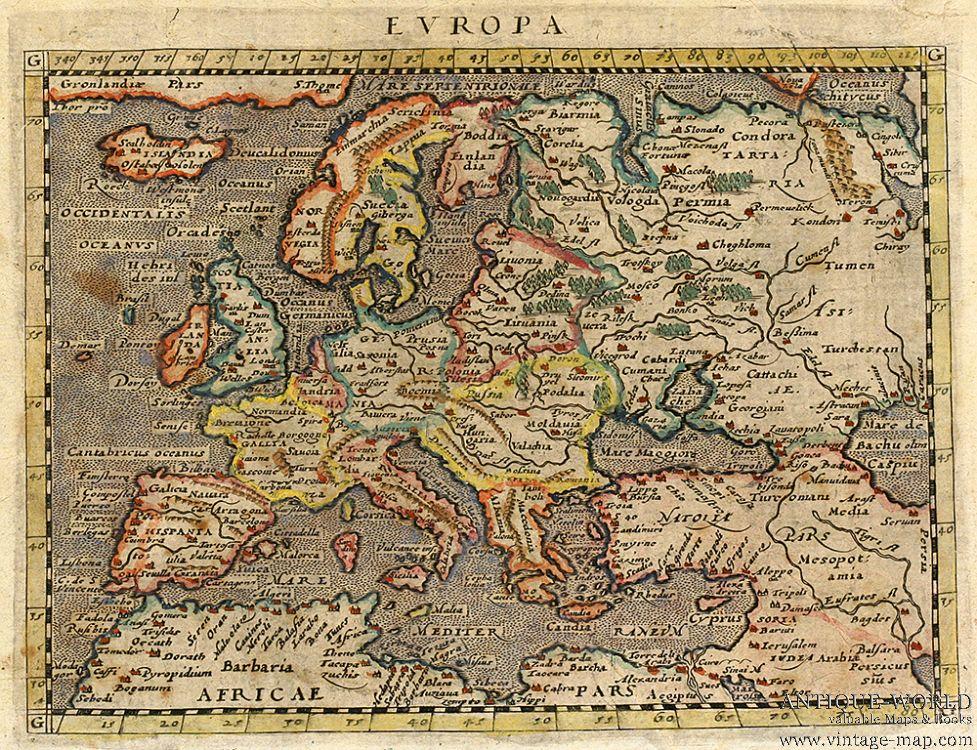 Vintage European Map Vintage Europe Map