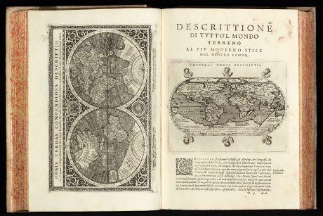 Atlanten, Magini, Ptolemaeus Atlas, 1597-98: Geografia cioe Descrittione Universale della Terra ... Nuovamente ... Rincontrati, & Corretti ... Gio. Ant. Magini ... Opera...