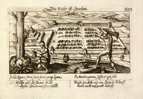Antique Maps, Meissner, South America, Peru, Cuzco, 1638: Cusco in West Indien