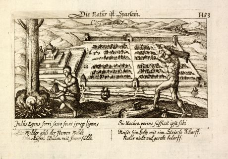 Antike Landkarten, Meissner, Südamerika, Peru, Cusco, 1638: Cusco in West Indien