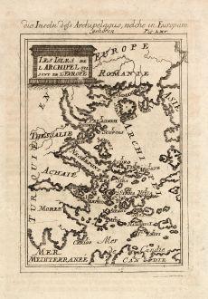 Antique Maps, Mallet, Greece, Aegean Sea, 1686: Die Inseln dess Archipelagus, welche in Europam gehören. / Les Isles de l'Archipel qui sont de l'Europe