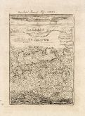 Antique map of Samos. Printed in Frankfurt circa 1686.