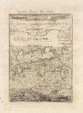 Antike Landkarte von Samos. Gedruckt in Frankfurt um 1686.
