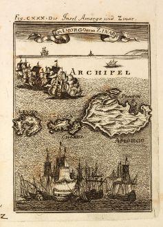 Antique Maps, Mallet, Greece, Cyclades, Amorgos, 1686: Die Insel Amorgo und Zinar / Id Amorgo et de Zinara