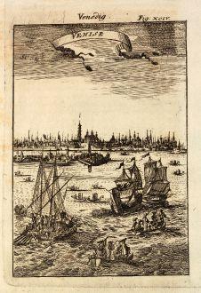 Antike Landkarten, Mallet, Italien, Venedig, 1686: Venedig / Venise