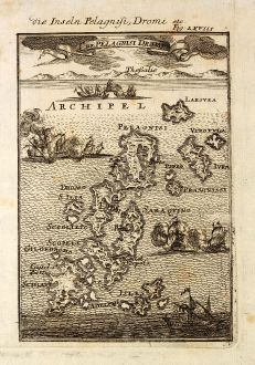 Antique Maps, Mallet, Greece, Pelagnisi, Dromo, 1686: Die Inseln Pelagnisi, Dromi / I. de Pelagnisi Dromi
