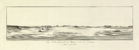 Antique Maps, Norden, Egypt, Meidum, Pyramid of Snefru, 1795: Vue de la Pyramide de Meduun et de ses Environs