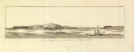 Antike Landkarten, Norden, Ägypten, Ägypten, Kairo, Abo El-Nour, 1795: Vue et Perspective de Nezlet Abonour / du Village de Bebe