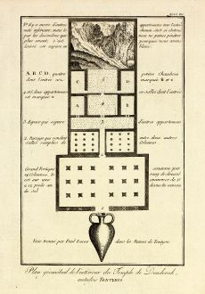 Bücher, Norden, Ägypten, Dendera, Hathor-Tempel, 1795: Plan geometral de l'interieur du Temple de Denderah autrefois Tentyris