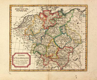 Antike Landkarten, Delamarche, Deutschland, 1800: Empire d'Allemagne