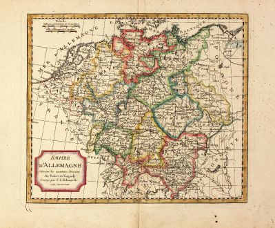 Antique Maps, Delamarche, Germany, 1800: Empire d'Allemagne