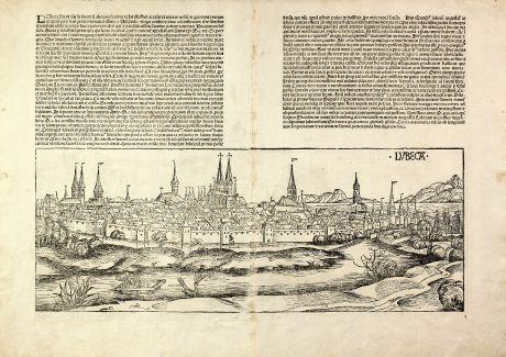 Antike Landkarten, Schedel, Deutschland, Lübeck, 1493: Lubeca