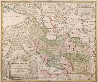 Antique Maps, Homann, Middle East, Persia, 1720: Imperii Persici In Omnes Suas Provincias