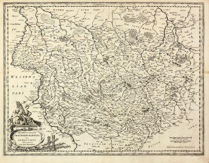 Antike Landkarten, Blaeu, Deutschland, Niedersachsen, Sachsen-Anhalt, 1630: Archiepiscopatus Maghdeburgensis et Anhaltinus Ducatus cum terris adjacentibus
