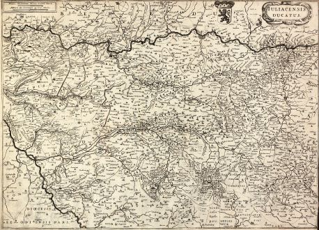 Antique Maps, Janssonius, Germany, North Rhein-Westphalia, Julich, 1650: Iuliacensis ducatus