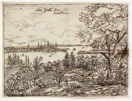 Antike Landkarten, Anonymous, Nordamerika, New York, 1800: Neu York oder Neu Amsterdam