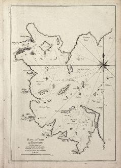 Antike Landkarten, le Rouge, Nordamerika, Boston, 1756: Baye et Port de Boston. Tire des Manuscrits de M. le Chevalier de la Rigaudiere Lieutenant de Vaissau du Roy . A Paris par...