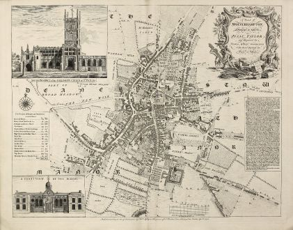 A Plan of Wolverhampton Surveyed in MDCCL By Isaac Taylor and