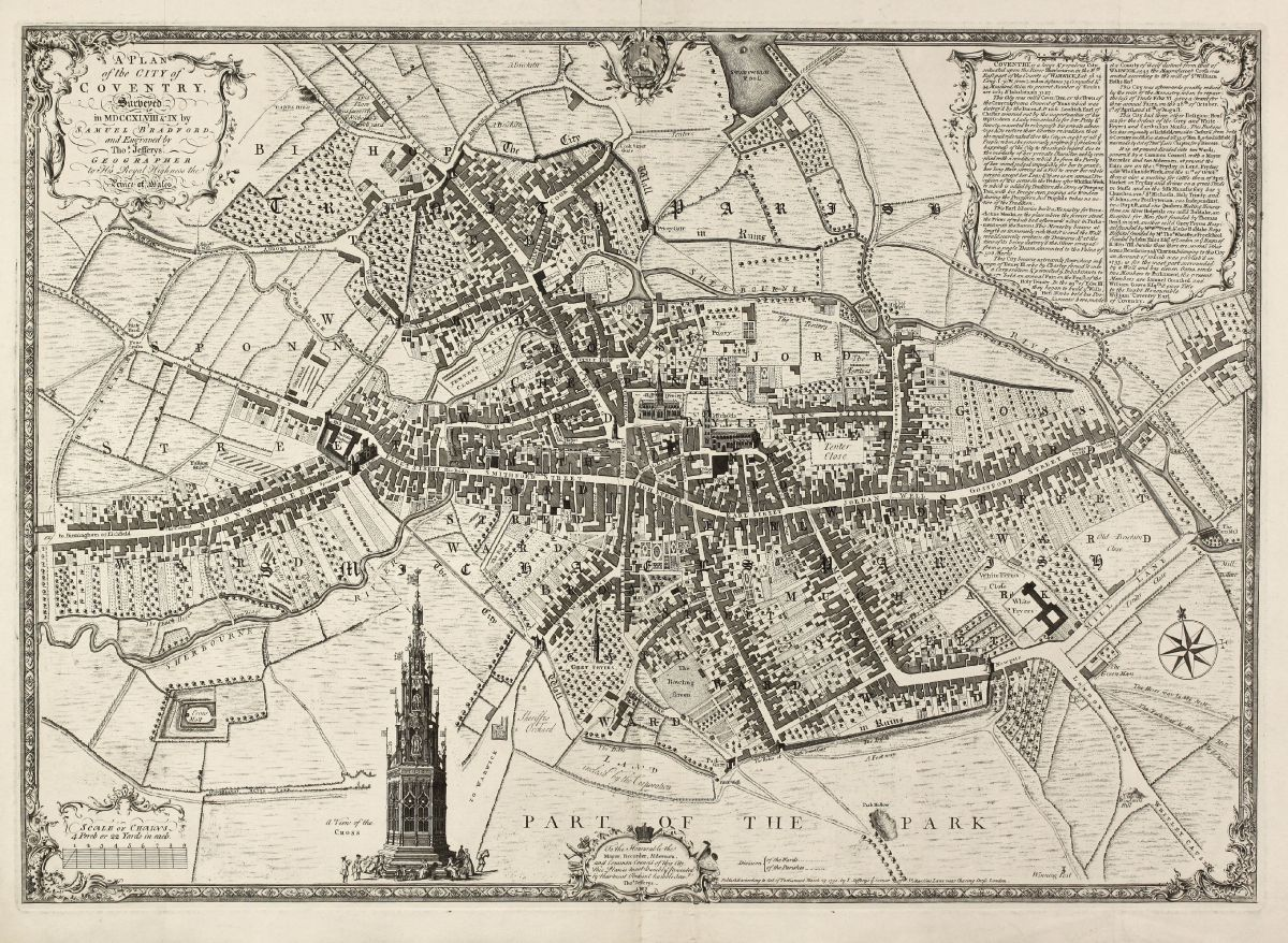 A Plan Of The City Of Coventry Surveyed In Mdccxlviii Ix