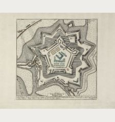 Plan du Chateau de Harburg. Rheinländische Ruthen.