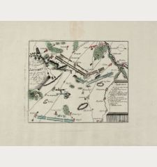 Plan de la fameuse Bataille de Leuthen entre les Armée de J. M. J. et R. et celle de J. M. le Roy de Prusse. les 5. Dec....