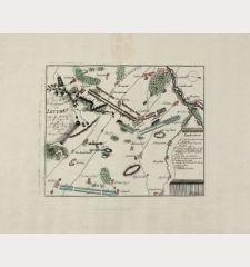 Plan de la fameuse Bataille de Leuthen entre les Armée de J. M. J. et R. et celle de J. M. le Roy de Prusse. les 5. Dec....