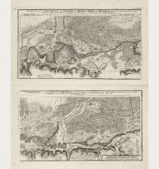 Vorstellung des Campements der Kayserl. u. Reichs-Armee zu Bruchsal, mit denen Inondationen u. neuen Linien 1735 in denen...