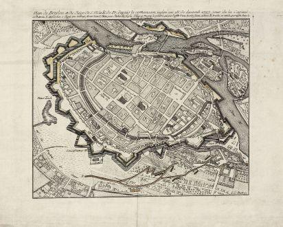 Antique Maps, Anonymous, Poland, Silesia, Breslau, Wroclaw, 1757: Plan de Breslau et du Siége de S.M. le R. de Pr. depuis le commencem. iusqu'au 18. de decemb. 1757. jour de la capitul.