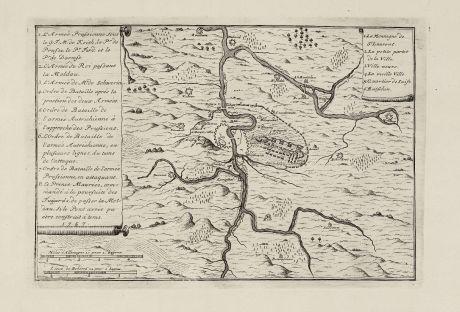Antique Maps, le Rouge, Czechia - Bohemia, Prague, Praha, 1757: untitled