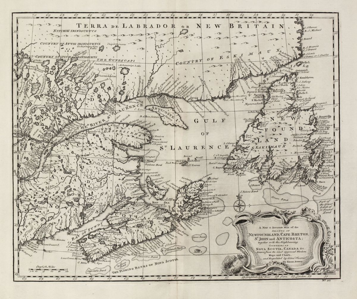 A New & Accurate Map Of The Islands Of Newfoundland, Cape