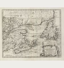 A New & Accurate Map of the Islands of Newfoundland, Cape Breton, St. John and Anticosta, Together with the Neighbouring...