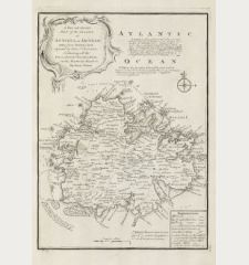 A New and Accurate Map of the Island of Antigua or Antego ... Containing All the Towns, Parish Churches, Forts, Castles,...