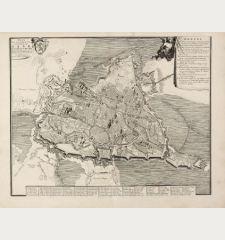 Plan de la ville et citadelle de Gand qui fut assigée par les Hauts-Allièz le 18 décembre 1708, où l'on ouvrit la...