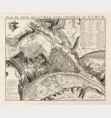 Plan du Siége de la Ville et du Château de Namur
