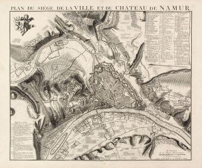 Antike Landkarten, Covens and Mortier, Belgien, Namur, 1746: Plan du Siége de la Ville et du Château de Namur