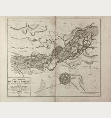 Les environs du Vieux Brisac, La Position de l'Isle de Rheinach ... Le Rouge Ing.r Geographe du Roy ... a Paris ... 1743.