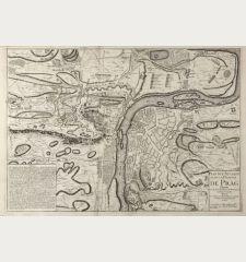 Plan de l'attaque et de la defense de Prag Dressé sur les derniers Plans de Monseigneur le Prince de Soubise par e Chez le...