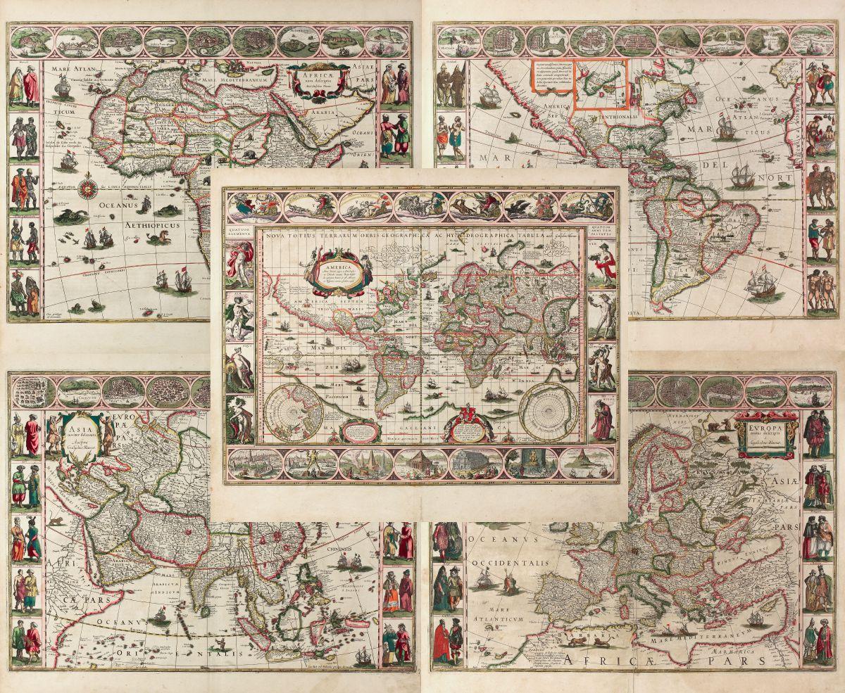Blaeu World Map.Nova Totius Terrarum Orbis Geographica Ac Hydrographica Tabula Auct