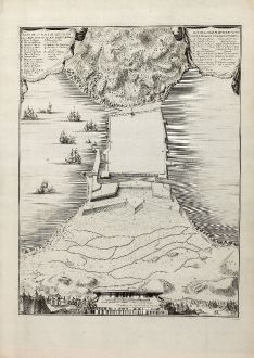 Antique Maps, Fricx, Spain - Portugal, Ceuta, 1710: Plano de la Plaça de Ceuta con las Obras nuevas de Don Pedro Boras / Delineado por el. Cap. D. Carlos de Erquicia / Plan de...