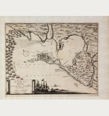 La Ville des Cadix, avec sa Baye, et les Isles d'enveron. Anna Beek avec Previlege.
