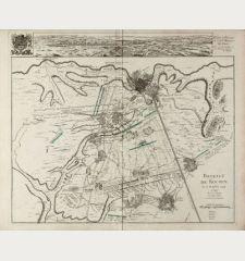 Bataille de Rocoux le 11. Octobre 1746 / Dedie et Presente a S.A.S. Maurice de Saxe. Par son tres humble et tres obeissant...