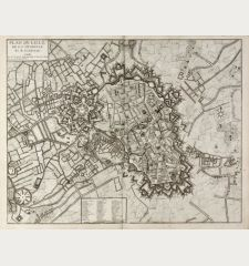 Plan de Lille, de la Citadelle Et de ses Environs. A Paris chez le Rouge ...