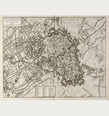 Plan de Lille, de la Citadelle Et de ses Environs. A Paris chez le Rouge ...