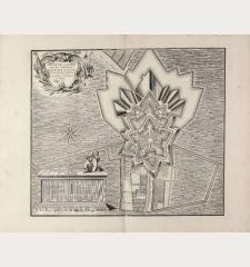 Platte Grond va de Fortresse Bourtange ten Jare 1742 Nauwkeurig opgenomen. te Amsterdam By Covens en Mortier.