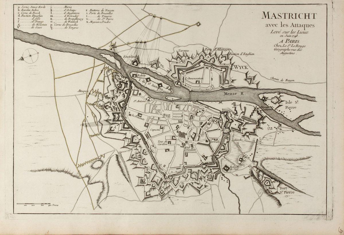 mastricht avec les attaques leve sur les lieux en juin 1748 a paris chez le sr le 1748. Black Bedroom Furniture Sets. Home Design Ideas