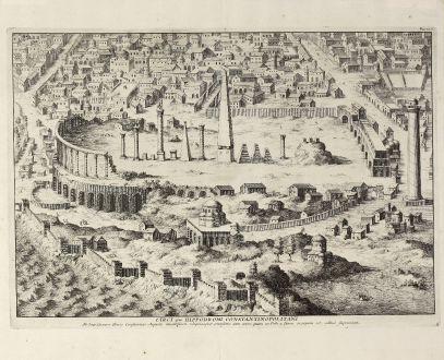 Antike Landkarten, Anonymous, Türkei, Istanbul, Hippodrom Konstantinopel, 1650: Circi sive hippodromi Constantinopolitani