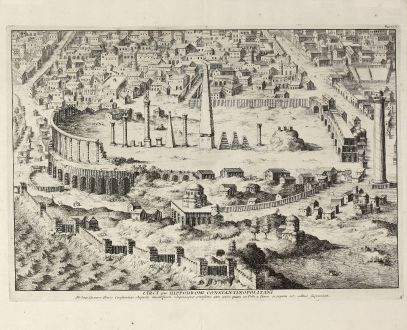 Antique Maps, Anonymous, Turkey, Istanbul, Hippodrome of Constantinople: Circi sive hippodromi Constantinopolitani
