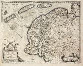 Antike Landkarte von Westfriesland. Gedruckt bei Henricus Hondius um 1630 in Amsterdam.